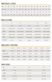 Size Chart Cat Footwear