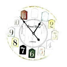 la large display digital atomic wall clock with indoor outdoor temperature