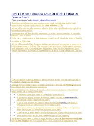 Letter of Intent to Rent or Lease a Space | Hamburgers | Meal