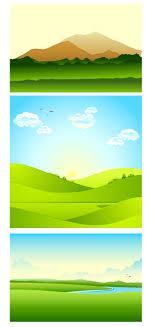 山や緑の自然の風景の無料イラストaiepsの無料イラストレーター素材
