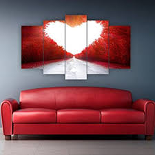 decorotika heart five piece horizontal wall art artwork adhesives included as a gift on horizontal wall art amazon with amazon decorotika heart five piece horizontal wall art artwork