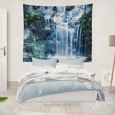 Home Interior: Challenge Bedroom Waterfall Triptych Blue Ocean Canvas Art  Prints From Bedroom Waterfall