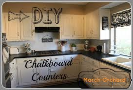 orchard chalkboard countertops can you paint kitchen with counter tile spray counters over for old countertop chalk white floor galvanized steel wardrobe