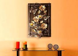 wall tea light holder buy wooden frame hanging candle online at lights