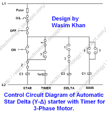 star delta 3 phase motor automatic starter with