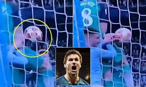Uefa champions league quarter final. Replay Footage Shows Fernando Llorente Did Handball For Tottenham S Vital Goal Against Man City Daily Mail Online