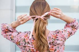 three tips for wearing the hair ribbon ponytail trend beauty