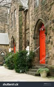 Decorating trinity doors pics : Stone Church Bright Red Doors Trinity Stock Photo 2627171 ...