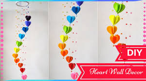 diy paper room decor ideas diy wall decor ideas for valentines day heart decors in livi