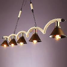 industrial pendant light rope chandelier suitable for restaurant dining table