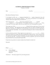 sample job offer letter gplusnick sample job offer letter by tessa zdyrmwke