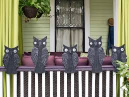 outdoor decoration banister owls