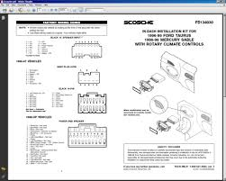 radio wire color problem with 2004 ford taurus ses (big newb Ford Taurus Radio Wiring Diagram click image for larger version name scosche1 jpg views 1 size 138 7 99 ford taurus radio wiring diagram