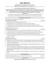 Resume Sample Resume For Human Resources Manager Best Inspiration