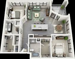3d floor plan creator unique 50 two 2 bedroom apartment house plans of 3d