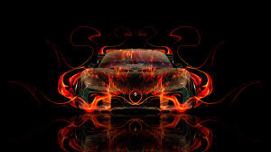 mazda rx7 fire abstract car