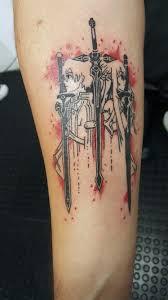 Sword Art Online Tattoo Brasil Ink Piercings Sword Art