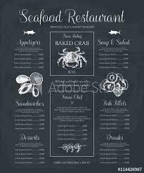 Decorative Seafood Restaurant Menu Or Flyer Design Vector Menu