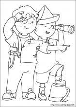 Caillou Coloring Pages On Coloring Bookinfo