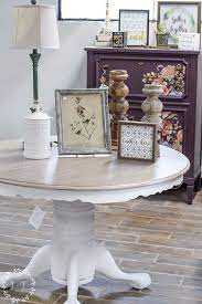 kitchen table top using paint stain