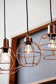 elegant keeping kitchen light. copper cage pendant lights with bare bulbs elegant keeping kitchen light