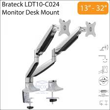 brateck ldt10 c024 13 32 inch dual lcd monitor desk mount stand