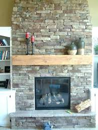 update brick fireplace with stone living room captivating fireplace remodel stone veneer over brick home improvements