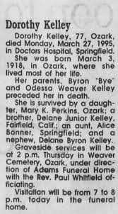 Obituary for Dorothy Kelley, 1918-1995 (Aged 77) - Newspapers.com