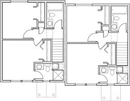 upper floor plan 2 for duplex house plans with basement 2 bedroom duplex plans