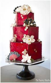 Asian themed wedding cakes