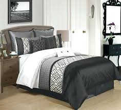 white duvet cover for your home 9 piece black charcoal white comforter set bedroom throughout black