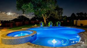 Freeform Pool Designs Colleyville Freeform Swimming Pool Spa Water Features Flyby