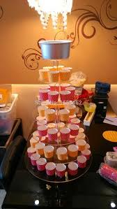 7 Tier Acrylic Round Cupcake Stand Birthday Party Display Wedding