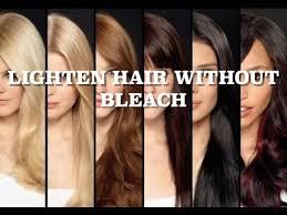lighten hair without bleach less hair