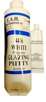 white polyester glazing putty with white hardener