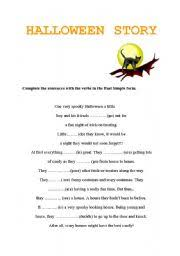 worksheet halloween story past simple english worksheet halloween story past simple
