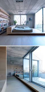 BEDROOM DESIGN IDEA - Place Your Bed On A Raised Platform // This sleeping  area