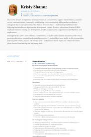 Human Resources Resume Template Unique Human Resources Resume Samples VisualCV Resume Samples Database