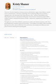 Resume Setup Example Beauteous Human Resources Resume Samples VisualCV Resume Samples Database