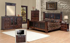 Staining Bedroom Furniture King Size Copper Creek Bedroom Set Free S H Dark Stain Rustic
