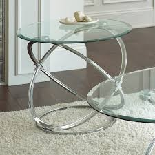 glass and chrome coffee table sets collection end tables coffee tables silver coffee table set