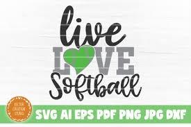 Live Love Softball Svg Cut File Graphic By Vectorcreationstudio Creative Fabrica