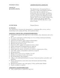 Executive Assistant Summary Of Qualifications Summary Of Qualifications Administrative Assistant Resume Perfect 9