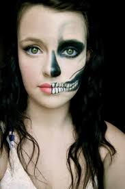 awesome skeleton makeup half face i could see you do this anna kinderwater