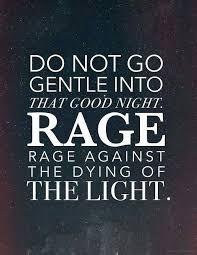 do not go gentle into that good night rage rage against the dying do not go gentle into that good night rage rage against the dying of the light novatildebrvbar vita
