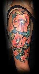 Tetování Freehand Kytky Tetování Tattoo