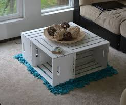 coffee table from wood crates
