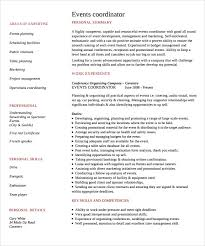 Event Coordinator Resume Inspiration 954 24 Sample Event Coordinator Resumes In PDF Sample Templates