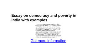 essay on democracy and poverty in examples google docs