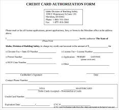 cc auth form credit card authorization form 6 download free documents in pdf word